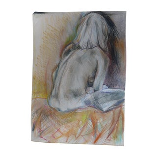 Thinking of You, Pastel on Paper Drawing
