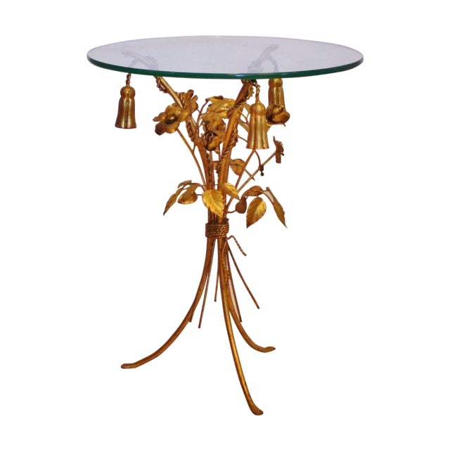 Vintage Italian Gilt Tassel & Rope Table - Image 1 of 5