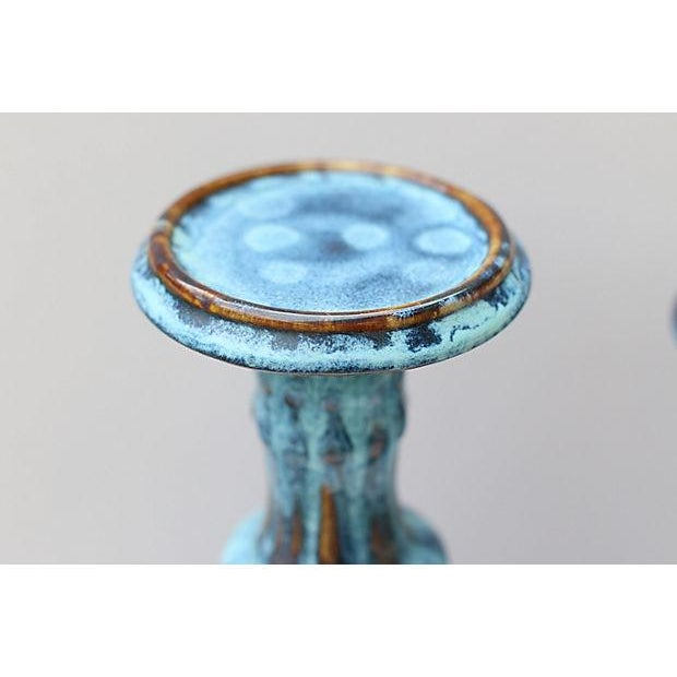 Drip Glaze Candleholders- A Pair - Image 3 of 6
