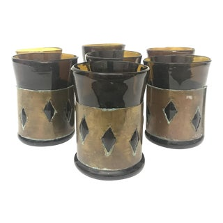 Mexican Imprisoned Glass Tumblers - Set of 7