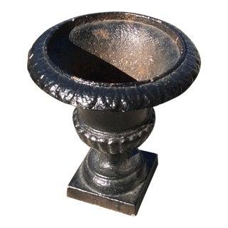 Small Black Iron Urn