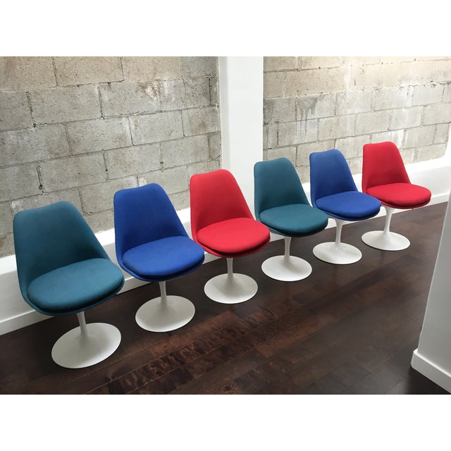 Eero Saarinen for Knoll Tulip Chairs - Set of 6 - Image 2 of 10
