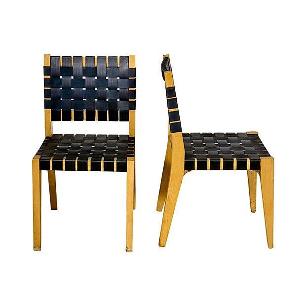 Image of Jens Risom for Knoll Webbed Chairs - Set of 6