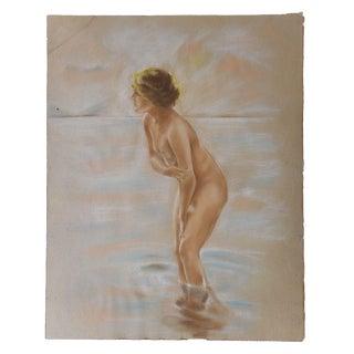Vintage Pastel Nude Drawing