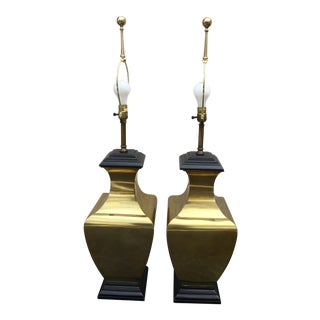 Mid-Century Brass Lamps - A Pair