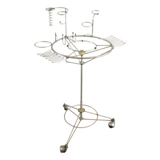 Mid Century Modern Atomic Bar Cart by J. Manic