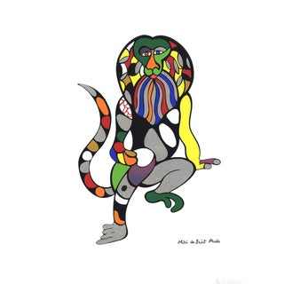 Niki De Saint Phalle Singe Lion (Monkey-Lion) Serigraph Poster