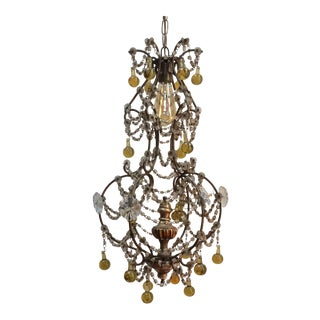 Yellow Murano Drop Chandelier
