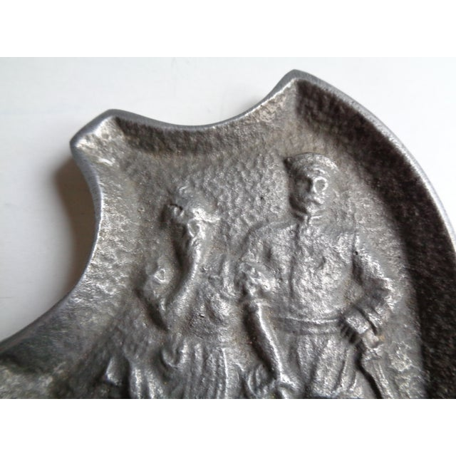 Vintage Soldier and Damsel Pewter Ashtray, With Surprise - Image 4 of 5