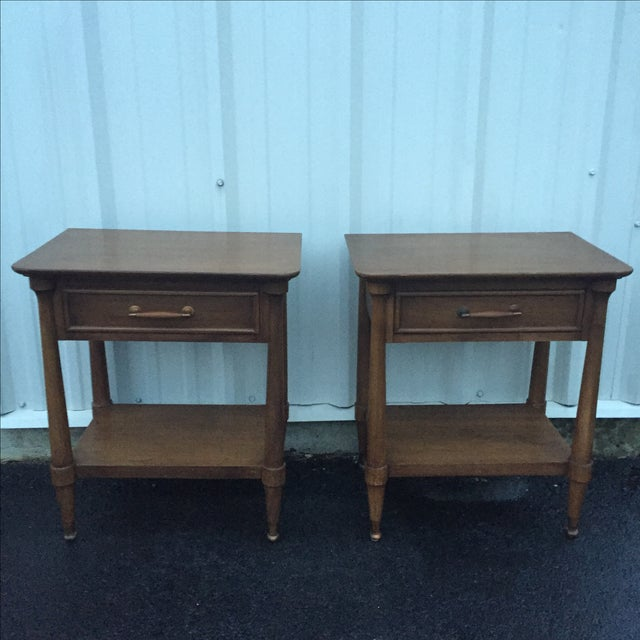 Mid-Century End Tables With Single Drawer - Pair - Image 5 of 12