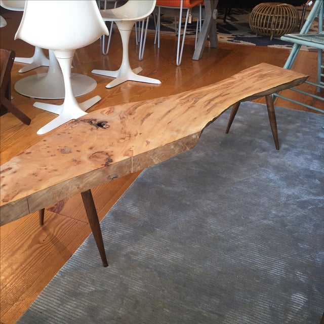 Live Edge Wood Slab Bench or Coffee Table - Image 8 of 9
