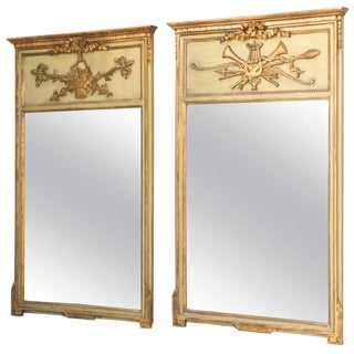 "Pair of ""His and Hers"" Trumeau Mirrors"