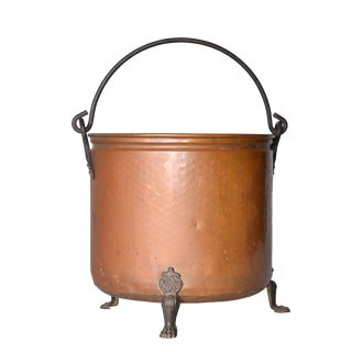Vintage Copper Claw Footed Planter