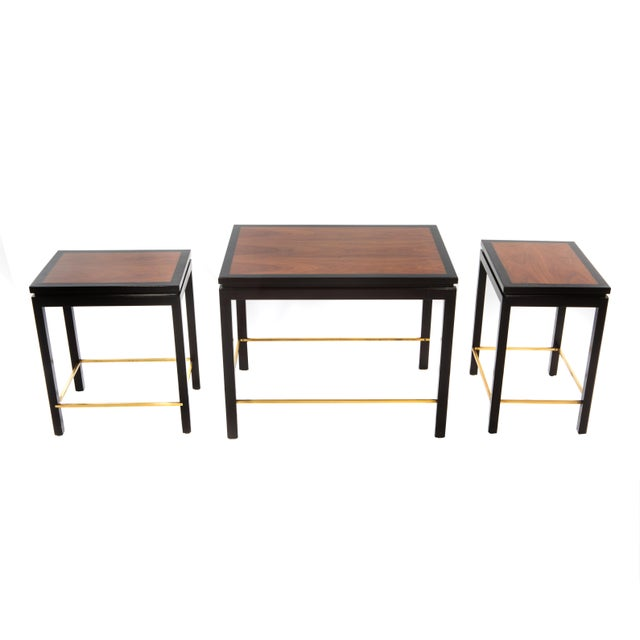 SET OF THREE NESTING TABLES BY EDWARD WORMLEY FOR DUNBAR, CIRCA 1950S - Image 4 of 11
