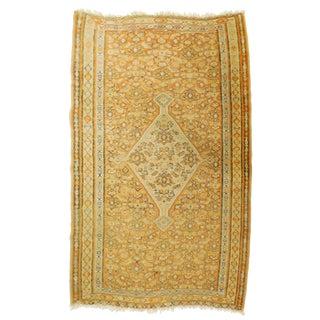 Antique Persian Senneh Kilim Rug - 4′ × 5′10″