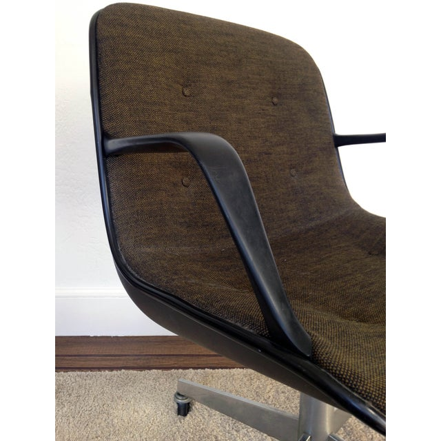 Charles Pollock for Knoll Tweed Office Chair - Image 4 of 6