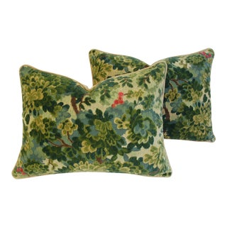 Custom-Tailored Scalamandre Velvet Marly Pillows - Pair