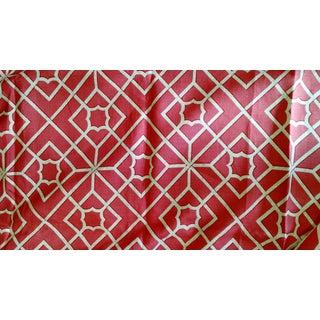 F Schumacher Luan Fretwork Linen Fabric