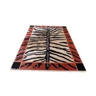 Nepalese Zebra Design Rug - 8′ × 12′