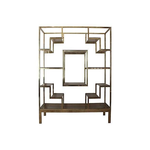 Romeo Rega-Style Brass & Glass Étagère - Image 1 of 6