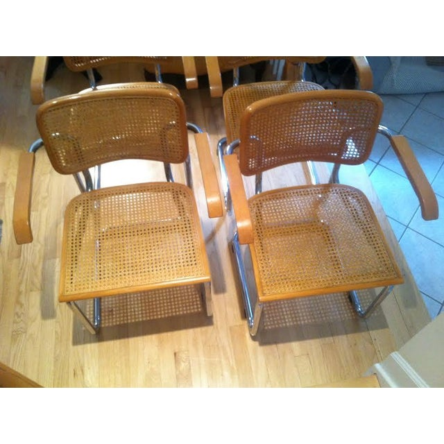 vintage thonet marcel breuer cesca chairs 4 chairish. Black Bedroom Furniture Sets. Home Design Ideas