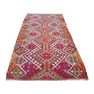 Vintage Turkish Kilim Rug - 5′8″ × 10′7″