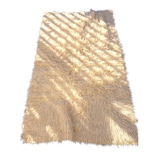 "Natural Wool Flokati Rug or Throw - 3'4"" X 5'10"""