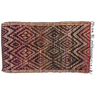 "Vintage Berber Moroccan Rug - 6'7"" x 11'7"""