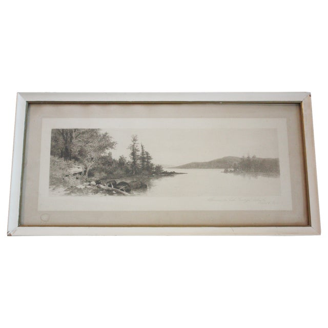 Lake George Etching by Ernest C. Rost - Image 1 of 6
