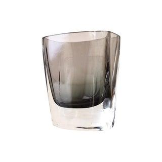 Vintage Mid-Century Smoked Glass Vase
