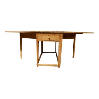 Swedish Pine Drop-leaf Table