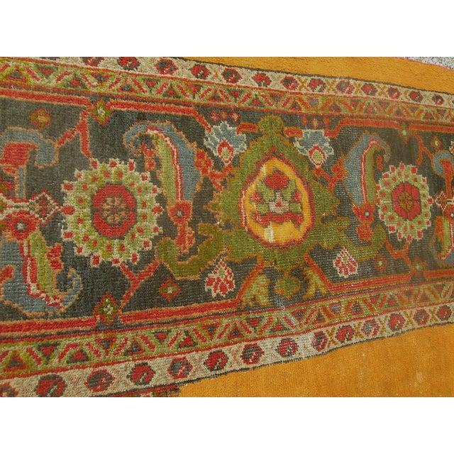Antique Persian Orange/Green Oushak Style Rug - Image 9 of 9