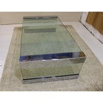 Image of Pace Chrome & Glass Coffee Table