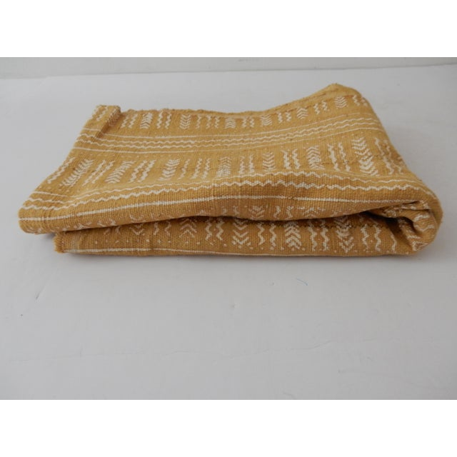 Mustard Bogolan Mud Cloth Textile - Image 7 of 8