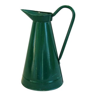 Large Forest Green Pitcher Vase