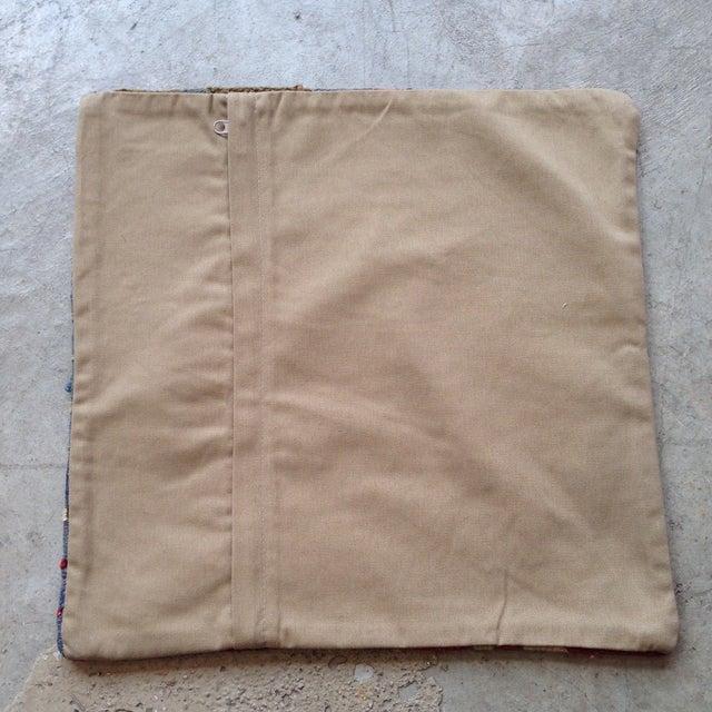 Vintage Red & Brown Kilim Pillow - Image 5 of 5
