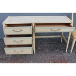 Image of 1960s Vintage Mid Century Modern Writing Desk & Chair