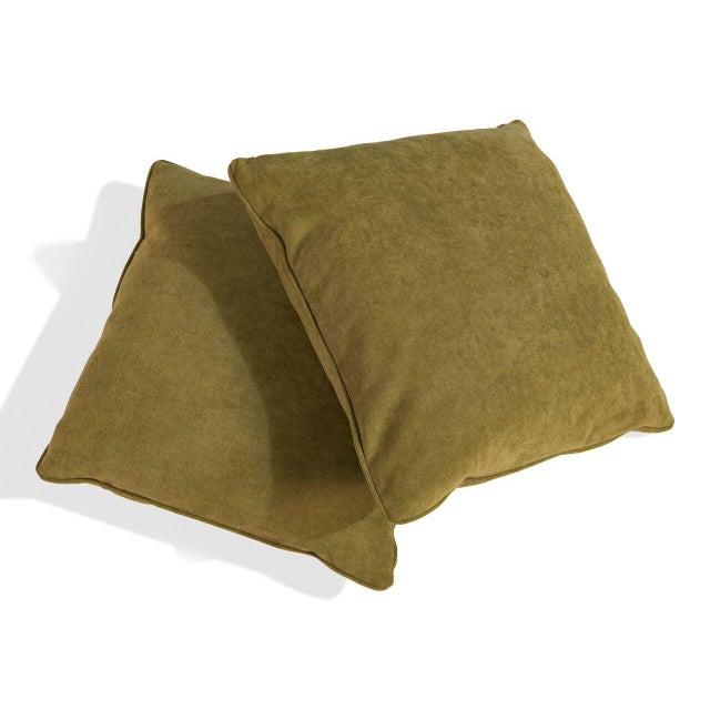 Sarreid LTD Caprice Truffle Square Pillows - A Pair - Image 3 of 3