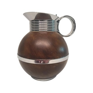 Manning Bowman Thermal Metal & Wood Pitcher