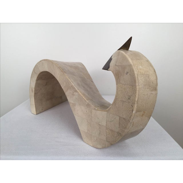 Tessellated Stone And Brass Abstract Bird - Image 6 of 8