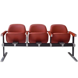 Set of Three Mid-Century Theatre Seats