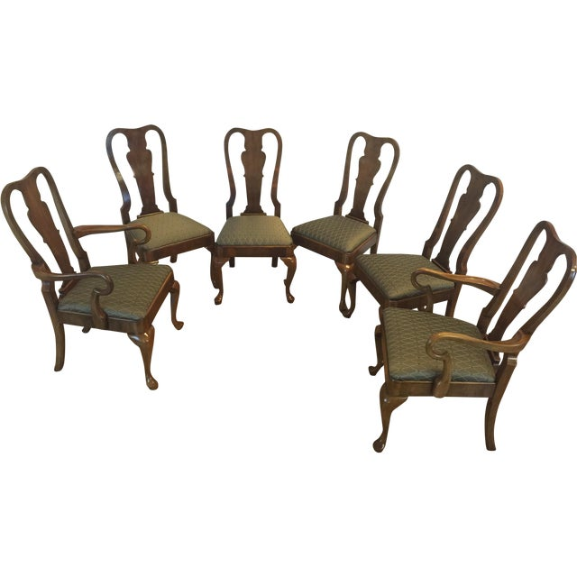 Henredon Traditional Dining Chairs - Set of 6 - Image 1 of 11