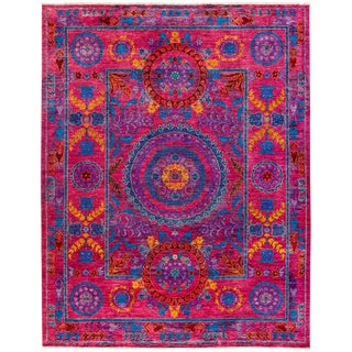 "Suzani, Hand Knotted Area Rug - 8'1"" X 10'2"""