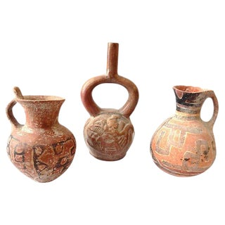 Pre-Columbian-Style Pottery Jars, S/3