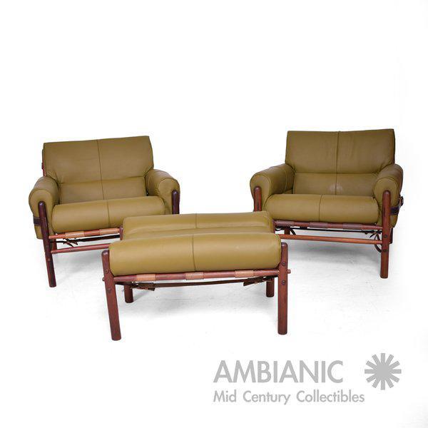 """Arne Norrel """"KONTIKI"""" Pair of Safari Chairs - Image 2 of 11"""
