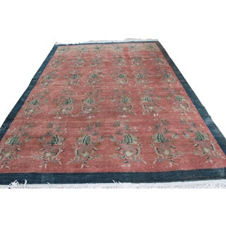 Overdyed Turkish Vintage Rug - 7' X 10'3""
