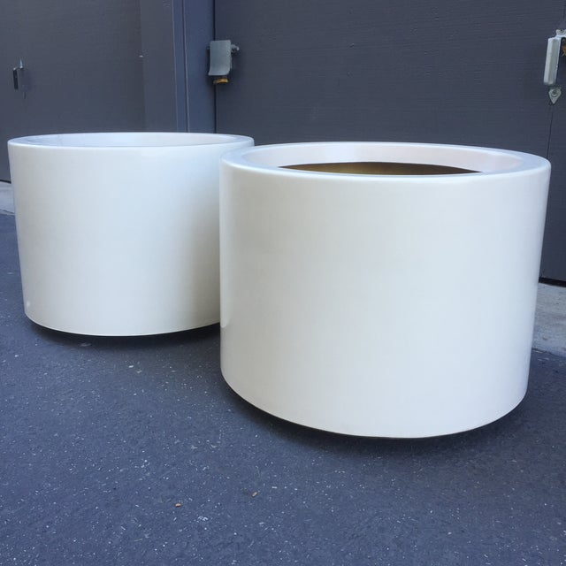 D. Deeds Architetural Fiberglass Planters - A Pair - Image 3 of 5