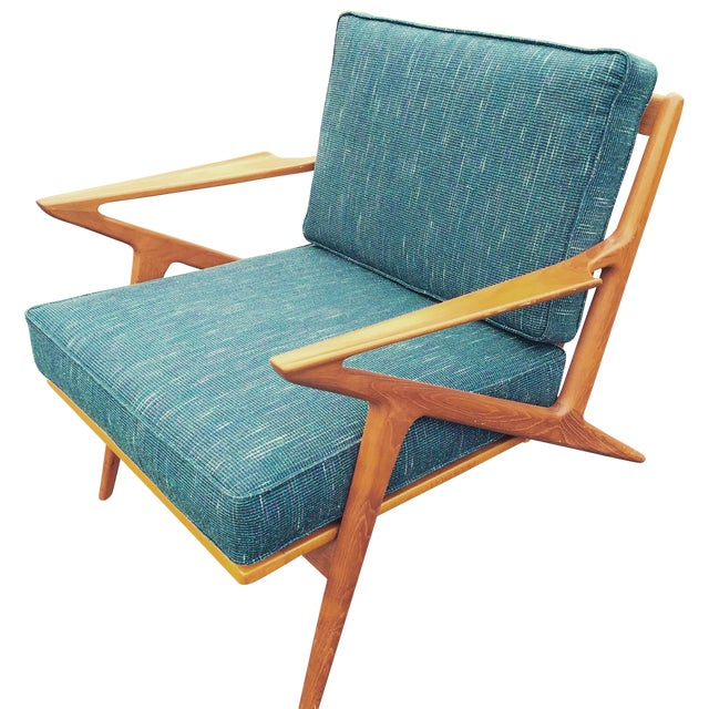 Teak poul jensen selig z chair new upholstery chairish for Poul jensen z chair