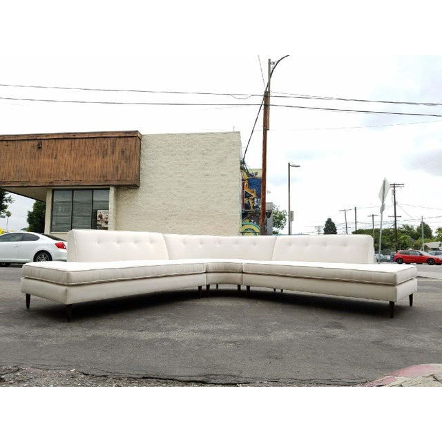 Vintage Oatmeal 3-Piece Sectional - Image 3 of 7
