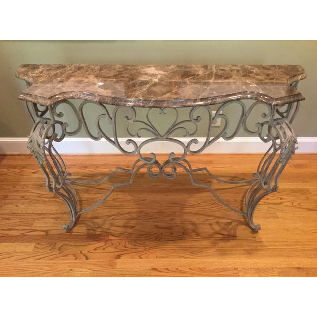 Vintage Marble Top Console - Image 2 of 6
